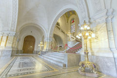 Main hall staircase of the Peace Palace Stock Photo