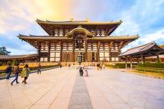 The Main Hall of Todai-ji Temple in Nara, Japan. Royalty Free Stock Photography