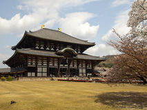 Main hall of Todaiji temple Stock Photos