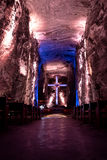 Main Hall of underground Salt Cathedral - Zipaquira, Colombia Stock Photo