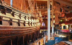 Main hall of Vasa museum in Stockholm, Sweden Royalty Free Stock Photography
