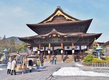 The Main Hall of Zenkoji Temple Royalty Free Stock Photography