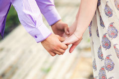 Main heureuse dans l'amour Image libre de droits