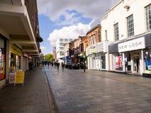 Main High street for shopping in St Helens Merseyside