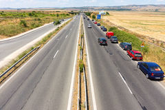 The main highway of Bulgaria near Burgas royalty free stock images