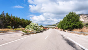 Main highway in Sicily in summer day Stock Photos