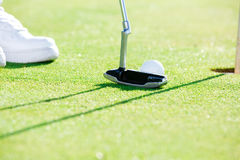 The main idea of the game of golf Royalty Free Stock Photo