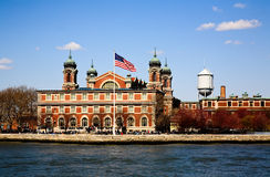 The main immigration building on Ellis Island Stock Photo
