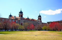 The main immigration building on Ellis Island Stock Images