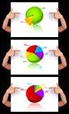 Main indiquant la collection dimensionnelle de diagramme Photo libre de droits