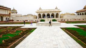 Main inside view of Red fort royalty free stock photo