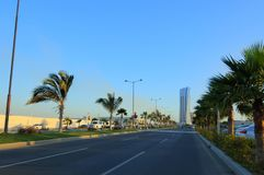 Main Jeddah Cost Street. Saudi Arabia Stock Photography