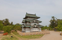 Main keep donjon of Hirosaki Castle, Hirosaki city, Japan Royalty Free Stock Image