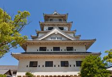 Main keep (donjon) of Imabari Castle, Japan Royalty Free Stock Photos