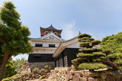 Main keep (donjon) of Kawanoe castle, Shikokuchuo, Japan Royalty Free Stock Photos