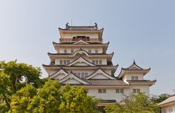 Main keep of Fukuyama Castle, Japan. National Historic Site Royalty Free Stock Photos