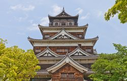 Main keep of Hiroshima Castle, Japan. National historic site Royalty Free Stock Photo