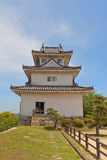 Main keep of Marugame castle (circa 1641), Japan. Main keep (donjon, circa 1641) of Marugame castle, Shikoku Island, Japan. One of only twelve survived original Royalty Free Stock Photography