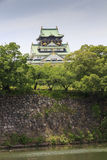 The main keep of Osaka Castle in Osaka, Japan. Royalty Free Stock Photography