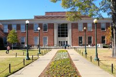 The Main Library on the campus of the University of Mississippi Stock Photo
