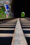 The Main Line Rail Road In Sri Lanka Royalty Free Stock Photography