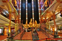 Main lobby of a cruise ship Royalty Free Stock Photography