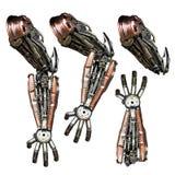 Main métallique de robot photo stock