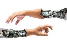 Main métallique de robot photographie stock libre de droits
