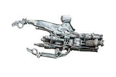 Main métallique de robot image libre de droits