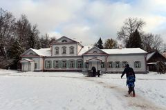 The main manor house in the museum-reserve `Abramtsevo` stock photo