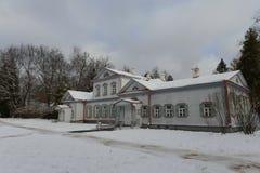 The main manor house in the museum-reserve Abramtsevo. ABRAMTSEVO, RUSSIA - NOVEMBER 6, 2016: The main manor house in the museum-reserve Abramtsevo royalty free stock images