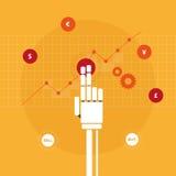 Main marchande de robot Images libres de droits