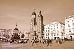The Main Market Square in Cracow Stock Photo