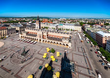 Main Market Square in Cracow, Poland Royalty Free Stock Images