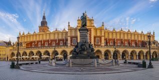 Main Market Square in Krakow. Poland royalty free stock photos