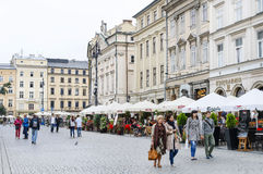 The Main Market Square, Krakow, Poland. Royalty Free Stock Images
