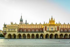 Main square in Krakow with  the town hall Royalty Free Stock Photography