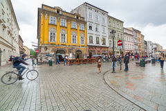 Main market square of the Old Town in Krakow, Poland Stock Images
