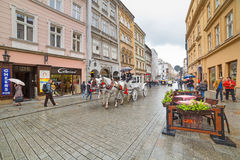 Main market square of the Old Town in Krakow, Poland Stock Photo
