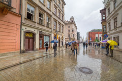 Main market square of the Old Town in Krakow, Poland Royalty Free Stock Photos