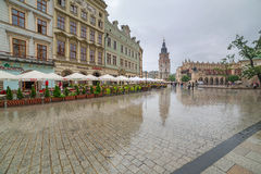 Main market square of the Old Town in Krakow, Poland Royalty Free Stock Photography