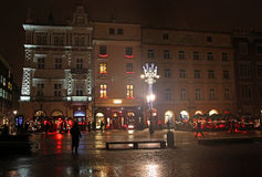 Main Market Square Rynek Glowny at night Royalty Free Stock Image