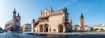 Main Market Square Rynek in Krakow, Poland Royalty Free Stock Images