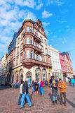 Main market square in Trier, Germany Stock Photos