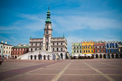 The main market square in Zamosc Royalty Free Stock Photography