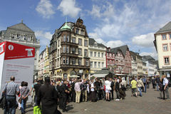 main market in Trier Germany Stock Photo