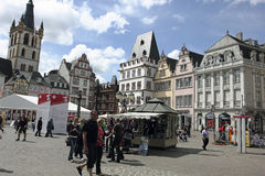 Main market in Trier Germany Stock Photography