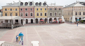Main market in Zamosc. Stock Images