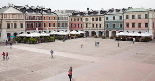 Main market in Zamosc. Stock Image