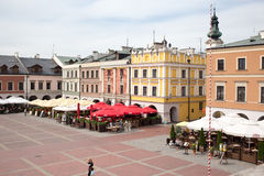Main market in Zamosc. Royalty Free Stock Image